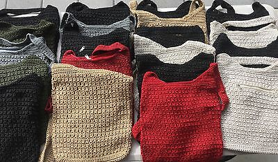 Bulk Crocheted Bags & Coin Purses -FREE POSTAGE