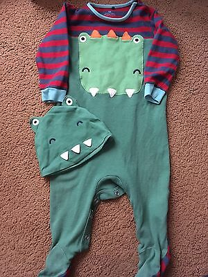 Next 9-12months Dinosaur Sleepsuits And Hat