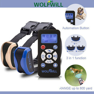 Dog Training Collar Waterproof & Rechargeable Beep Automation Vibration 800Yards