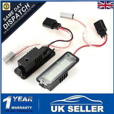 2x LED Number License Plate Light Lamp For VW GOLF MK4 MK5 Seat Polo Canbus