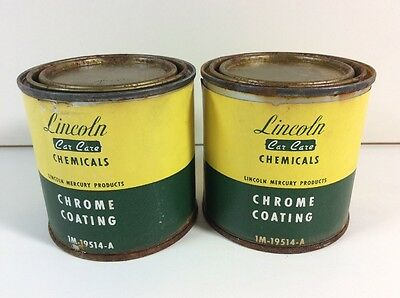 Vintage Lincoln Mercury Car Care 1M-19514-A Chrome Can Protectant H