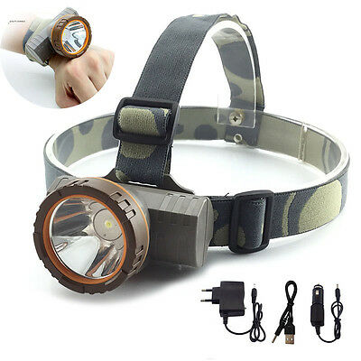 waterproof bright Rechargeable LED Headlamp Headlight head Lamp Torch fishing