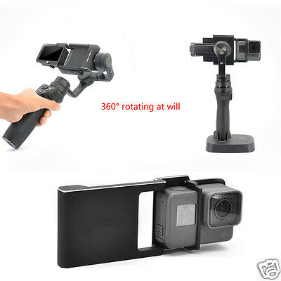 Adapter Mount Plate for GoPro 4 3+ DJI Osmo Zhiyun Mobile Gimbal Smooth Q C 2