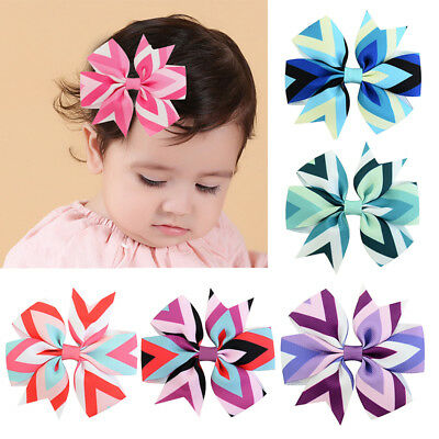 New Baby Girls Toddler Hair Ribbon Bows Hair Clips Bow Hairpins Barrettes