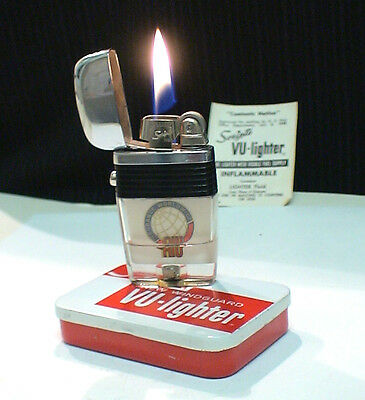 BRIQUET Tempête @ Vu Lighter by SCRIPTO @ Strom Fuel Lighter Feuerzeug Accendino