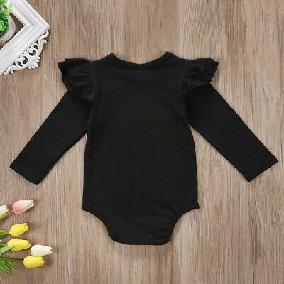 Newborn Infant Baby Girl Long Sleeve Romper Top Bodysuit Jumpsuit Clothes Outfit