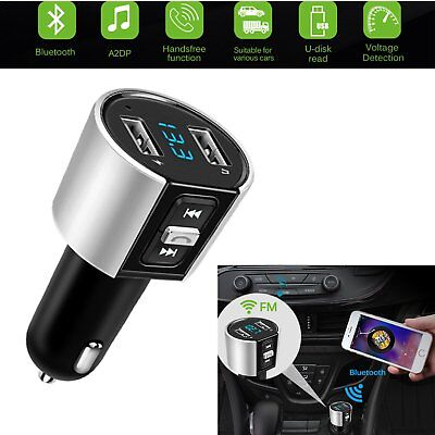 Wireless Bluetooth Car Kit MP3 Player FM Transmitter USB Disk Charger Handsfree