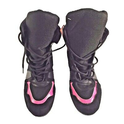 Unbranded Premium Boxing Boots/Shoes Unisex Gym/Training Black/pink Size 8 9 10