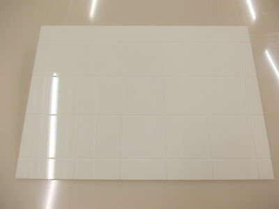 3mm white Acrylic perspex plastic sheet Tiled Effect 420 X 297 A3