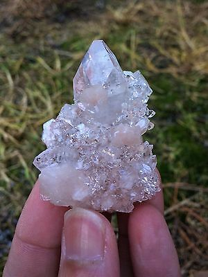 Clear Apophyllite with Stilbite 55x40mm, Mineral Crystal (No Amethyst)