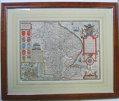 Lincolnshire: antique map by John Speed, 1614