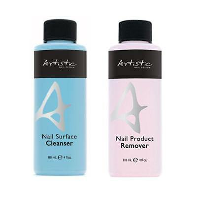 Artistic Colour Gloss Soak off Gel  Cleanser & Remover - 2 pack 118ml