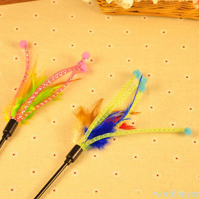 Flower Feather Wand Stick pour Cat Catcher Teaser Toy Pet Kitten Cat Toy