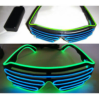 Shutter Shades New Sound Activated Led Flashing ClubGlasses Colorful Sun Glasses