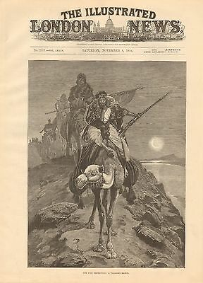 1884 Antique Print-Nile Expedition-A Toilsome March