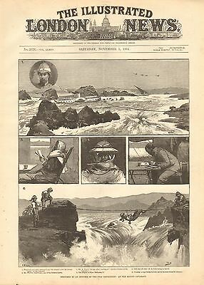 1884 Antique Print-Nile Expedition- At The Second Cataract