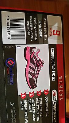 Safety Shoes Pink King Gee K26600 Size 9