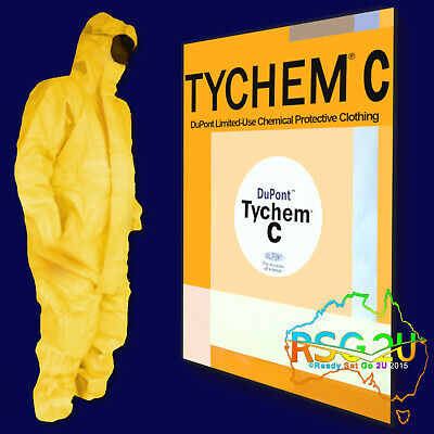 Dupont Tychem C Chemical Coverall Disposable Overalls Certified 3/4/5/6