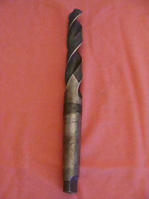 """Unknown Mfg 4 Mt Drill 2 Flute 1 9/32"""" 118 Degree Point 14 1/2"""" Oal Usa"""