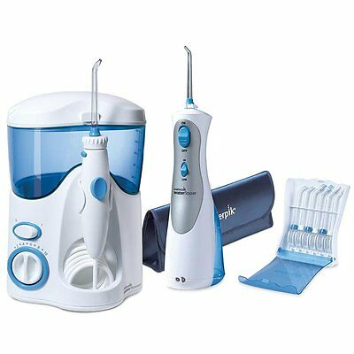 Waterpik Cordless Plus & Ultra Water Flosser Combo Pack with 12 accessory tips