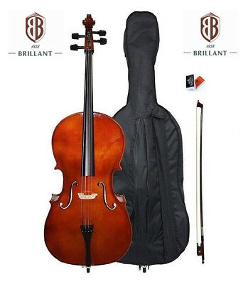 Brillant Student Cello Starter Outfit - 4/4 Full Size Beginners Cello
