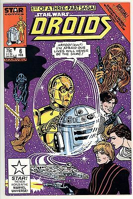Droids 6 - Hard to Find Star Comics - Star Wars - High Grade 9.6 NM+