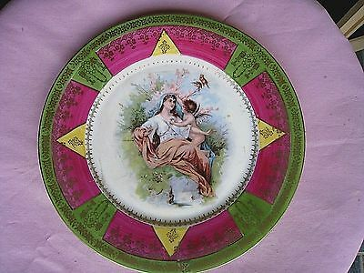 Antique German  Plate.....C.T. Altwesser-Silesia.......Mother/Daughter Scene