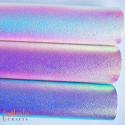 Iridescent Textured Colour Changing Metallic Leatherette Fabric - Crafts & Bows