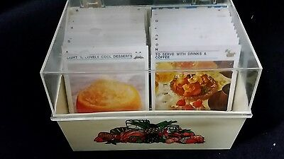 Vintage 1970's Australian  Womens Weekly Box Set Recipe Cards
