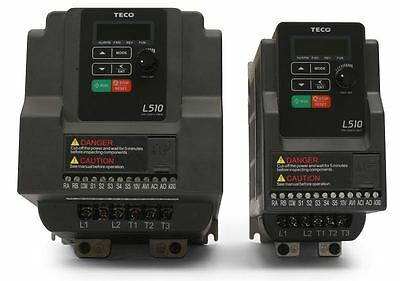 2 Hp 230V 1Ph Input 230V 3Ph Output Teco Variable Frequency Drive L510-202-H1-U