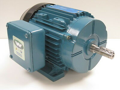 Brook Crompton .33 Hp 3600 Rpm Tefc 208/230/460 V 56 3 Phase Motor New Surplus