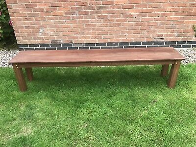Solid wooden bench - long - seats 4