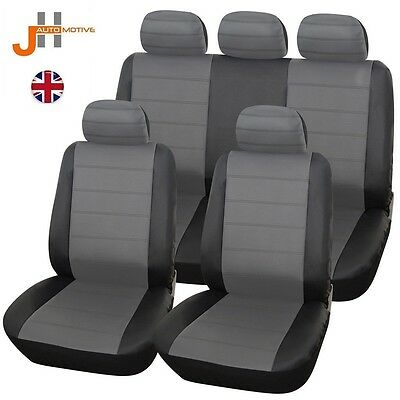 Hyundai Accent Hatchback 00-05 Heavyduty Black & Grey Leather Look Seat Covers