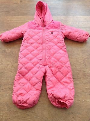 Next Girls Autumn  Winter Snow / Pram Suit 12-18Mths