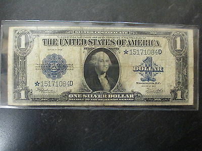 1923 United States Star Bill Large $1 Dollar Silver Certificate
