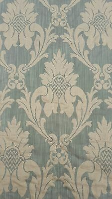 1800s Horizontal FRENCH SILK DAMASK FABRIC 38 feet x 56""