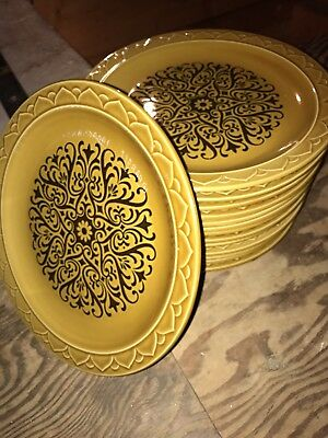 Golden Seville Antique Plate Set. Vintage. Japan