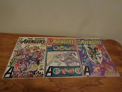 Marvel Comics The Mighty Avengers 250, 253 and 254