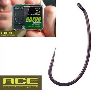 "Hamecon Carpe Ace Medium Curve Shank ""10 Pieces"""
