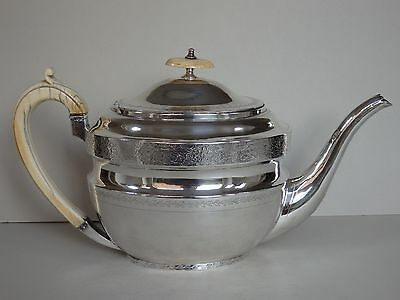 GEORGE-III-SOLID-STERLING-SILVER-TEAPOT-LONDON-1804-530g