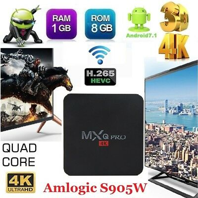 Android 6.0 Smart Tv Box 4K Ultra HD Media Player Wifi Quad Core WIFI Youtube FR