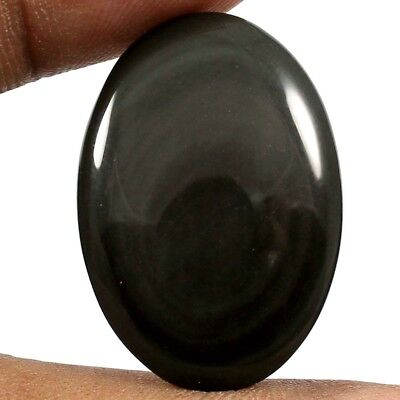 24.50cts Excellent Quality Natural Rainbow Obsidian Oval Cabochon Loose Gemstone