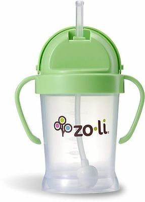 NEW -  6 oz Green - ZOLI BOT Straw Sippy Cup - FREE SHIPPING