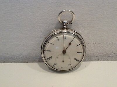 Victorian Chester Hallmarked Silver Pocket Watch, with seconds inset dial