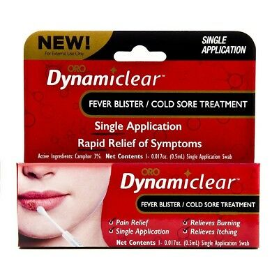 Dynamiclear Fever Blister/Cold Sore Treatment Rapid Relief of Symptoms, Single