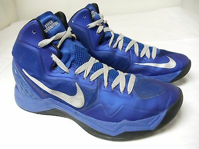 more photos 01167 ef07b Nike Zoom Hyper Disruptor Mens High Top Basketball Shoes Blue Size 10.5
