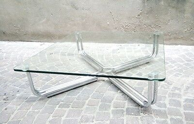 Tavolino Cassina design Frattini vintage anni60/70 glass table