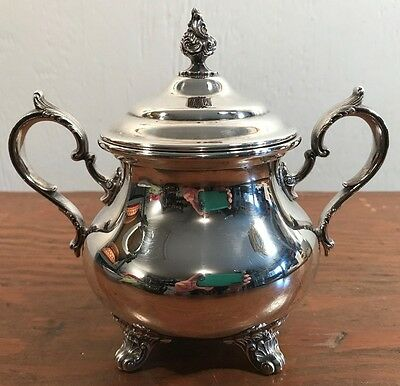 Antique Gorham EP Anchor C 1903 Silverplate Electroplate Sugar Bowl & Lid Marked