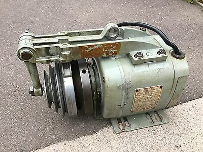 Hoover industrial motor with 3 speed pulley and clutch 240 volt mains 1/4 hp VGC