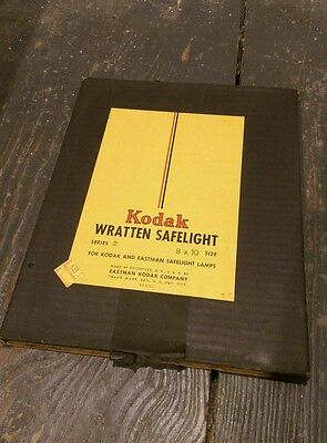 "Kodak safelight glass filter 8"" x 10"" Wratten No. 2 Red darkroom photography"